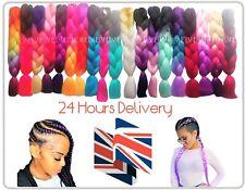 "U.K  24"" Ombre Dip Dye Kanekalon Jumbo Braid Hair Extensions 24 Hrs Delivery"