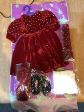 """Magic Attic Club Holiday Dress Red And Accessories Shoes Headband Tights 16-18"""""""
