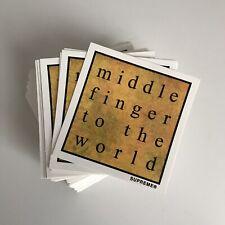 Supreme Middle Finger World Sticker 100% AUTHENTIC SUPREME STICKER BOX LOGO