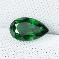 1.24 ct BEST GRADE GREEN NATURAL TSAVORITE GREEN GARNET - Pear - See Vdo # 3869