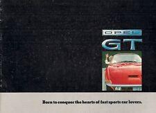 Opel GT 1968-69 UK Market Sales Brochure 1100 1900