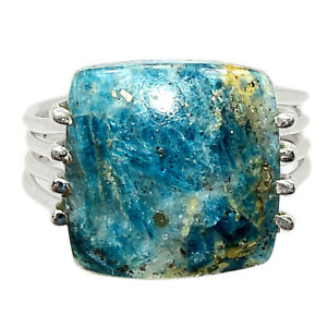 Rare Pyrite In Kyanite 925 Sterling Silver Ring Jewelry s.8 BR82313