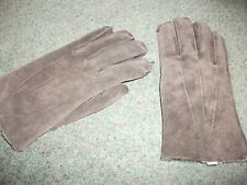mens fur lined suede gloves one size new