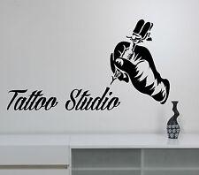 Tattoo Studio Logo Wall Sticker Vinyl Window Sign Decal Tattoo Art Room Decor t5
