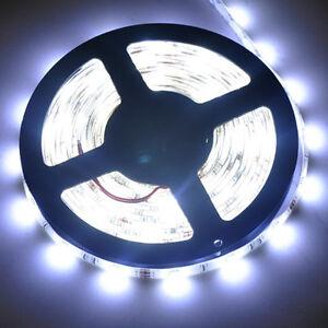 5M 150 Leds Cool White SMD 5050 Led Strip Lights Outdoor Waterproof Lamps 12V