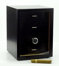 Humidor Schrank Angelo Cabinet schwaz ca 120 Zigarren Acrylpolymere-Befeuchter
