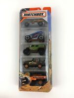 Matchbox 5-pack Rugged Desert Off Road 4X4 Jeep Buggy Field die-cast Cars MISB