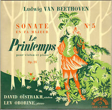 "D. OISTRAKH / LEV OBORINE, BEETHOVEN SONATE ""LE PRINTEMPS"" 50'S MINI LP"