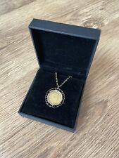 More details for 1910 king edward vii half sovereign coin decorative mount on 22in 9ct gold chain