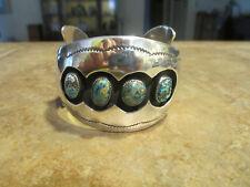 SPLENDID Vintage Navajo R WYLIE Sterling BISBEE Turquoise Shadowbox Bracelet