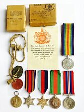 Set of World War I & II Medals, Tags & Certificates Belonging to Same Soldier!