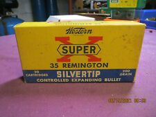 Vintage Western Super X 35 Remington Silvertip Empty Cardboard Box
