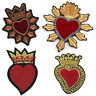 Heart Embroidered Iron On Sew On Patches Badge Bag Fabric Applique DIY Craft FO