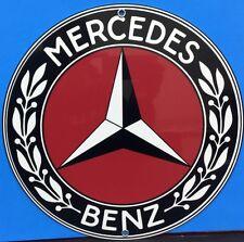 Vintage Reproduction Mercedes Advertising Garage Sign