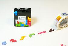 1Roll Tetris 15mm×7m paper Sticky Adhesive Sticker diary washi masking Tape