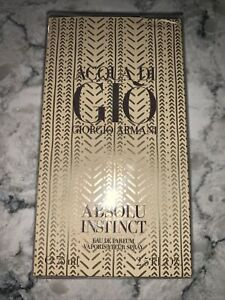 *New Box*   Acqua Di GIO ABSOLU INSTINCT By Giorgio Armani Eau de Parfum 2.5 oz