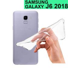 FUNDA de silicona gel transparente para SAMSUNG GALAXY J6 (2018) cascasa flexi