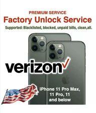 Verizon USA Unlock Premium 24hr Service iPhone 11 Pro Max All Models and Status