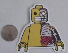 Lego sticker zombie skeleton skate skateboard cell laptop bumper decal