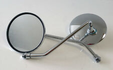Mirror Set-Pair-Universal, Motorbike-10mm Mirrors-Classic Cars-Chrome-0529a