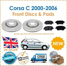 For Corsa C 1.0 1.2 1.4 2000-2006 Two Front Vented 240MM Brake Discs & Pads New