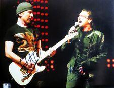 Bono & The Edge Dual Signed Autographed 11X14 Photo U2 Performing Gv806035