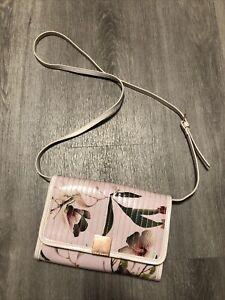 Ted Baker Pink PVC Crossbody Handbag Clutch Bag