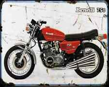 Benelli 750 Sei 73 1 A4 Metal Sign Motorbike Vintage Aged