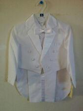 New  Boys White Tuxedo  with Tails Size 10