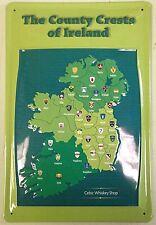 Il paese crests dell' Irlanda in rilievo acciaio segno 300mm X 200mm (HI)