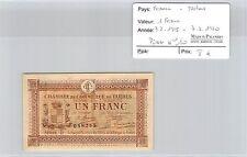 BILLET DE NÉCESSITÉ - FRANCE - TARBES - 1 FRANC - 7.2.1915 / 7.2.1920