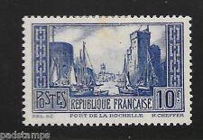 FRANCE 1931 10fr Port de la Rochelle Type IIA vf MINT hinged SG 474b CV £95