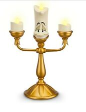 Disney Store Parks Beauty & Beast Lumiere Light Up Candle Candelabra Figurine !