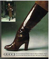 Publicité Advertising 1977 Les Chaussures Bottes Gucci