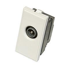 Triax Modular Blende Satellite einzeln IEC Stecker Typ Einsatz Modul weiß