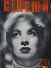 Cinema 115 1953 Maj Zetterling. Intervista con Wyler e Semenov. Raskolnikov C52]