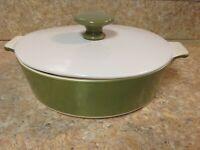 "Corning Ware 7 1/2""  Avocado Green skillet b-1 -b w/ lid  1qt vintage 1968-1970"