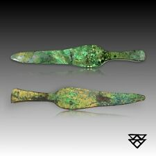 2 Stunning Original Greek Military Knives | Coeval to the Troy Epoch Ca. 500 Bce