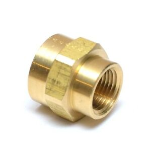 """Reducer 3/4"""" to 1/2"""" Npt Female Pipe Adapter Coupler Brass Fitting Water Oil Gas"""