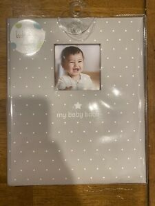 MY BABY FIRST MEMORIES BOOK TINY IDEAS UNISEX BOY GIRLS KEEPSAKE RECORD ALBUM