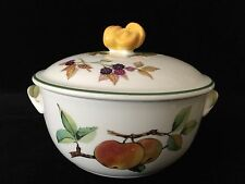 "Royal Worcester Evesham Vale Fine English China Casserole, 5 1/2"" x 4 3/4"" High"