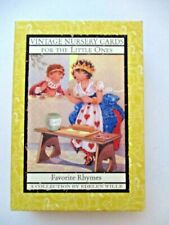 Vintage Nursery Rhyme Cards For Little Ones Toy Art Baby Decoration FREE SHIP