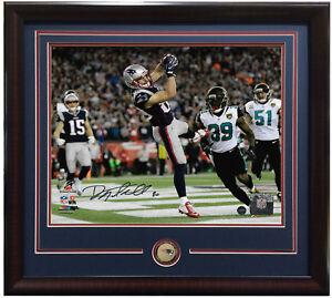 Danny Amendola signed 8x10 TD Catch photo framed Patriots coin auto Steiner COA