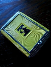 New listing Vintage silhouette Art Deco Powder Rouge enamel Compact purse necessaire