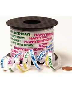 50m,100m Printed Curling Ribbon Birthday Party Gift Wrapping Balloons String UK