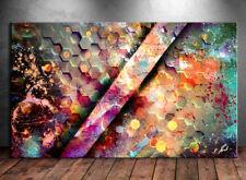 Bunte Textur Bild auf Leinwand Abstrakte Kunst Bilder Wandbild Kunstdruck D0811