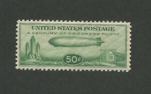 1933 US Air Mail Postage Stamp #C18 Mint Never Hinged Very Fine Graf Zeppelin