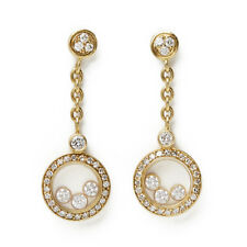 CHOPARD 18K YELLOW GOLD HAPPY DIAMONDS EARRINGS COM1731