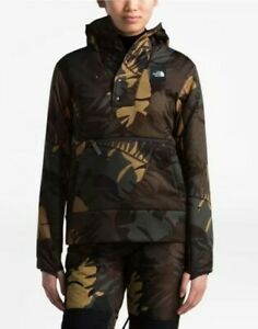 NWT The North Face Women's Fallback Hoodie Jacket $189 Sz M Taupe Olive Palms
