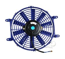 "1X 10"" Slim/Thin 12V Push/Pull Electric Radiator/Engine Cooling Fan Blue Jdm"